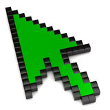 Green arrow cursor Royalty Free Stock Images