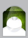 Green arrow design disk and sleeve Stock Photos