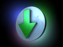 Green arrow down stock illustration
