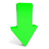 Green arrow down. 3D illustration Royalty Free Illustration