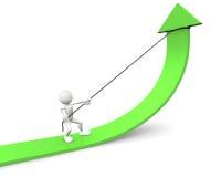 Green arrow graph Stock Photography
