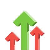 Green arrow graph stock raise up Royalty Free Stock Image