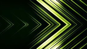 Green Arrow Horizontal Wipe. Abstract background of lines in shape of arrow. Futuristic colors.  royalty free illustration