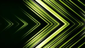 Green Arrow Horizontal Wipe. Abstract background of lines in shape of arrow. Futuristic colors.  stock illustration
