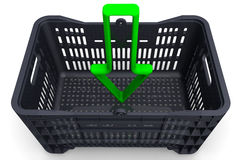 The green arrow indicating the direction in the box Royalty Free Stock Photography
