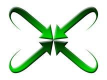 Green arrow logo. Four green arrow logo design Royalty Free Stock Photo