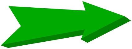 Green arrow pointed - 3D Illustration. Green arrow pointed, its`s a illustration Royalty Free Stock Photo