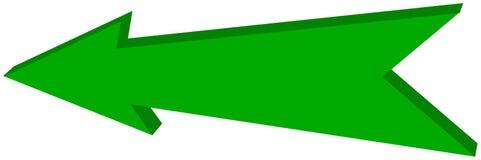 Green arrow pointed - 3D Illustration. Green arrow pointed, its`s a illustration Royalty Free Stock Image
