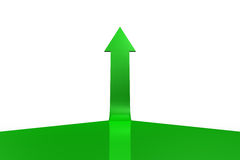 Green arrow pointing up Royalty Free Stock Photo