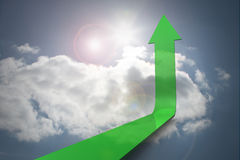 Green arrow pointing up Royalty Free Stock Images