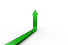 Green arrow pointing up Stock Photography