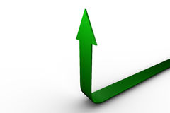 Green arrow pointing up Stock Photo