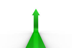 Green arrow pointing up Stock Image