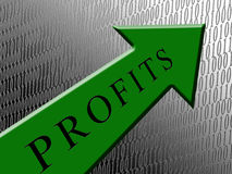 Green Arrow Profits Royalty Free Stock Photography