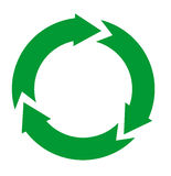 Green and arrow  recycle icon Royalty Free Stock Photography