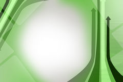 green arrow right side, abstract background Stock Photography