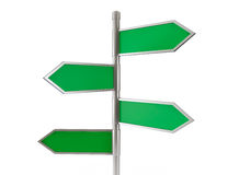Green arrow road signs Stock Image