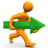 Green Arrow Run stock image