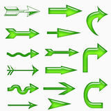Green arrow symbols Stock Photo