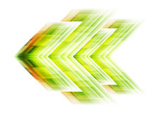 Green arrow tech background Stock Photo