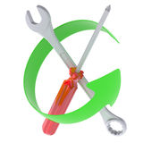 Green Arrow and tools Stock Images