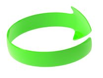 The green arrow is twisted around Royalty Free Stock Images