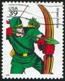 Green Arrow. UNITED STATES - CIRCA 2006: stamp printed by United states, shows Green Arrow, circa 2006 stock photos