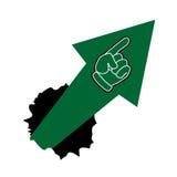 Green arrow up Royalty Free Stock Image