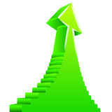 Green arrow up with staircase on side design Royalty Free Stock Photography