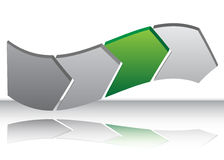 Green Arrow Warp Chart. An image of a Green Arrow Warp Chart Royalty Free Stock Image