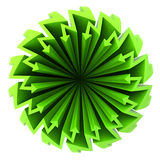 Green arrow zigzag circle composition Stock Photos