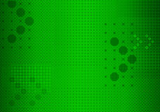 Green arrowed background. Abstract modern, dotted background with directional arrows Stock Photography