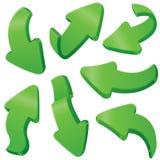 Green arrows Royalty Free Stock Photo