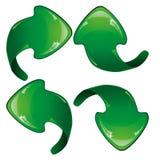 Green arrows Royalty Free Stock Photos