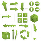 Green arrows Royalty Free Stock Photos