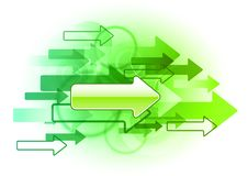 Green arrows Stock Images