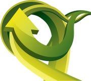 Green arrows 3D Stock Image