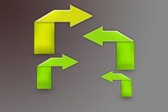 green arrows, abstrack background Stock Photos