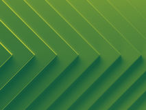 Green arrows abstract background picture. 3D illustration. This image works good for text and website background, print and mobile application Royalty Free Stock Images