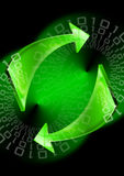 Green arrows background Royalty Free Stock Photos