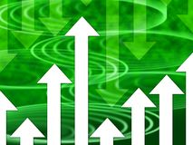 Green Arrows Background Means Direction Upwards Or Downwards Royalty Free Stock Photography