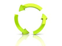 Green arrows in circle. Illustration of green arrows in circle (recycle, reload stock illustration