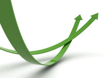 Green arrows illustration Royalty Free Stock Photos