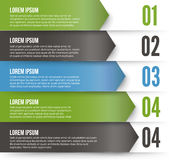 Green Arrows Infographics Stock Photo