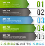 Green Arrows Infographics Royalty Free Stock Photo