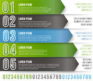 Green Arrows Infographics Royalty Free Stock Images