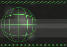Green Arrows And Map Coordinates Background. Technology Abstract Vector Background With Green Arrows And Map Coordinates Royalty Free Stock Photo