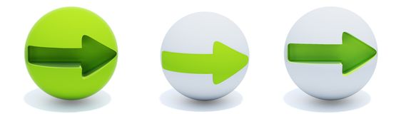 Green Arrows On Sphere Royalty Free Stock Photography
