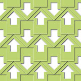 Green arrows pattern Royalty Free Stock Photo