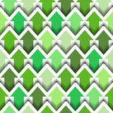 Green Arrows Seamless background Stock Images